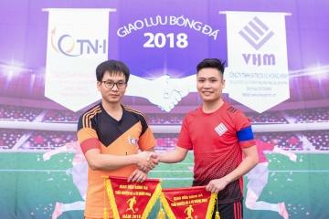 Giao lưu bóng đá giữa Công ty CP Trần Nguyễn Hà và Công ty TNHH SX TMDV Vũ Hoàng Minh